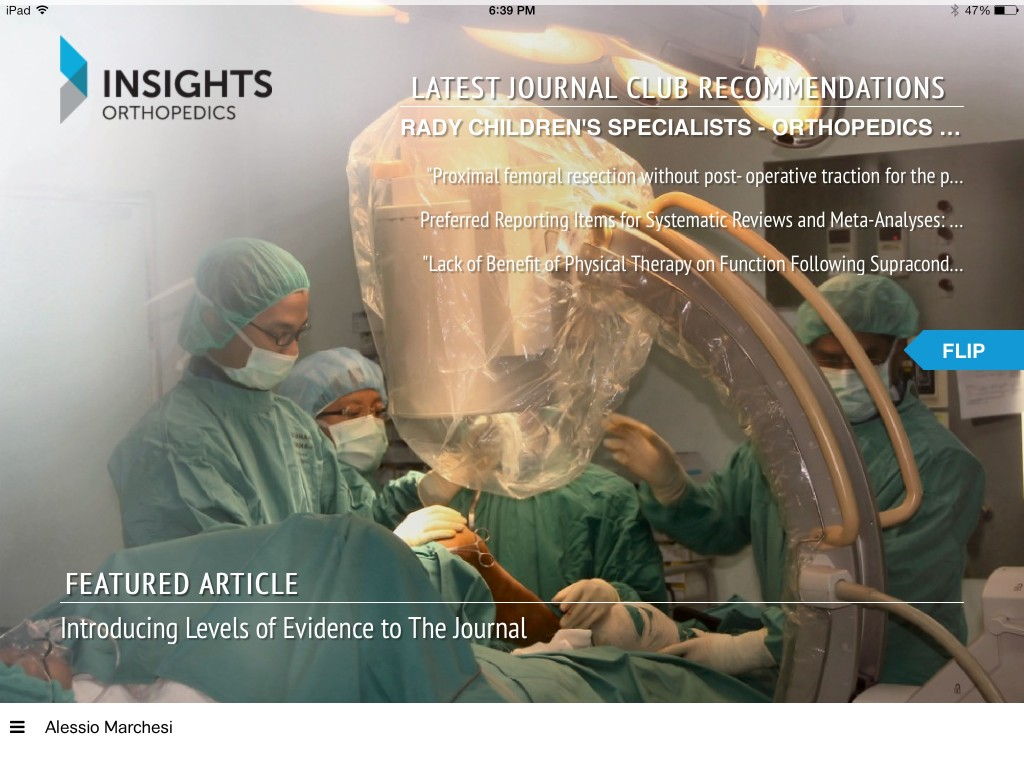 Cover page Insights Orthopedics