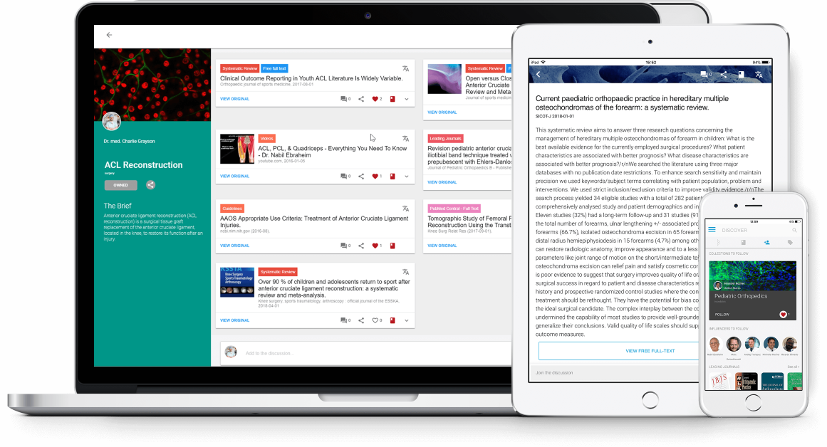 Medical Insights content on all devices, wherever you need it